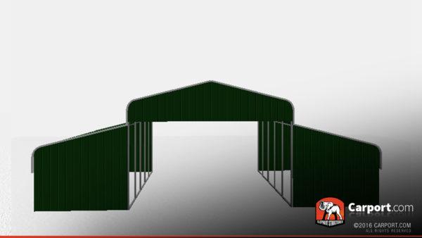 36 x 26 x 10 open metal horse barn regular roof
