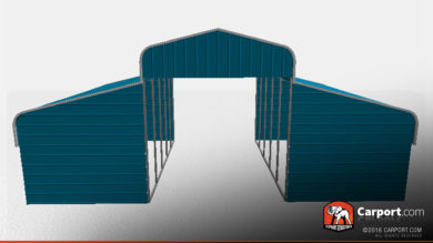 36 x 31 x 10 metal horse barn curved roof