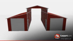 36 x 31 x 12 ridgeline style steel barn red