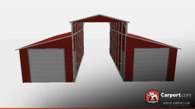 36 x 31 x 12 ridgeline style steel barn red