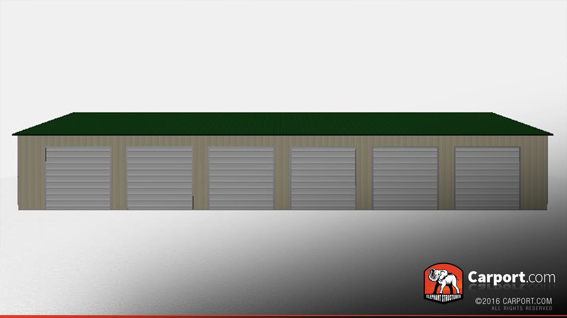 36x81 steel garage drive through 1 - 6 Car Garage