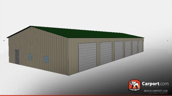 36x81 Steel Garage Drive Through 2