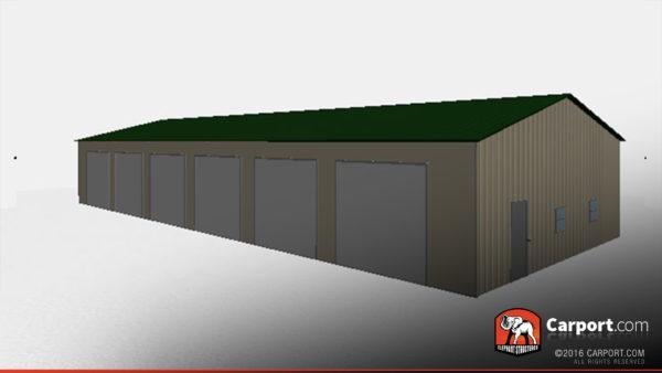 36x81 Steel Garage Drive Through 3