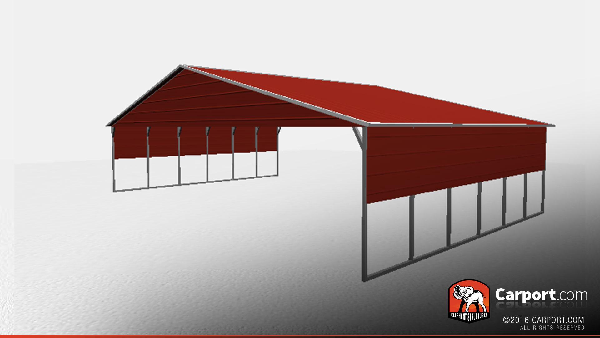 40 X 26 Vertical Roof Metal Carport With Side Panels Metal Carports Info