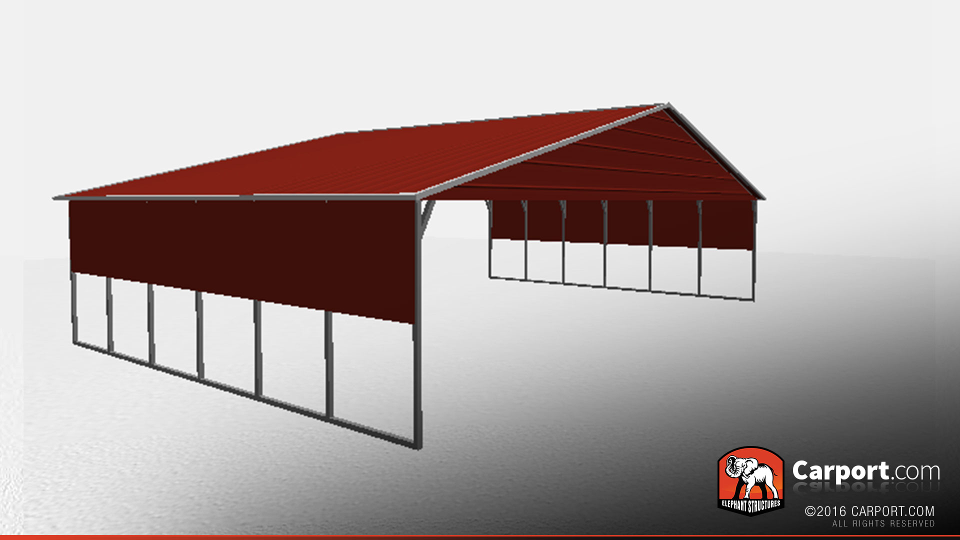 40' x 26' Vertical Roof Metal Carport with Side Panels ...