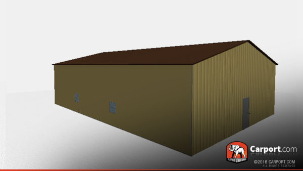 40x60 Metal Building with Vertical Siding and Metal Roof