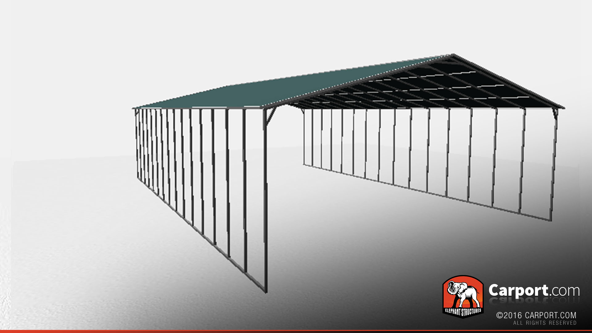 14 40 Carport : Metal carport with vertical roof panels