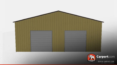 40x60 Metal Building Garage with Vertical Roofing