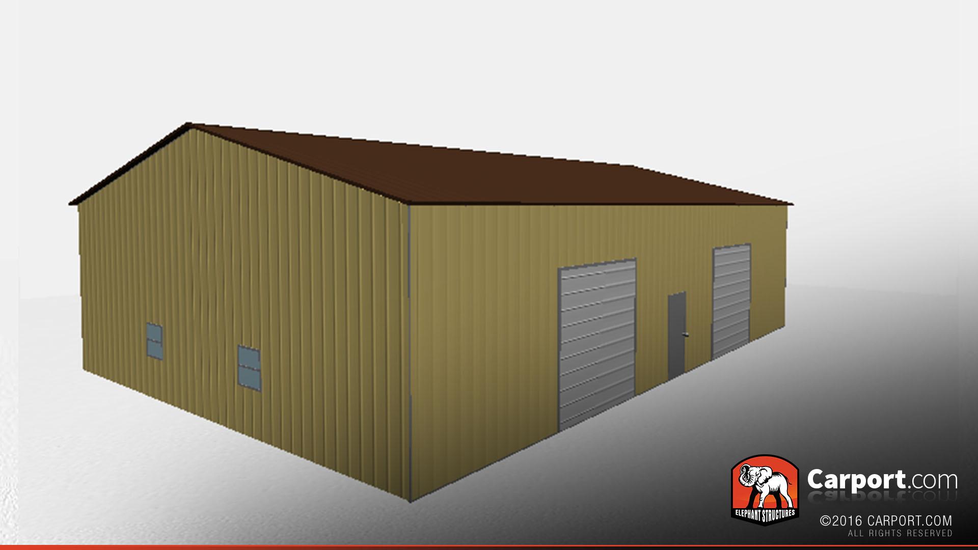 metal building side access garage 40 39 x 60 39 shop metal garages online. Black Bedroom Furniture Sets. Home Design Ideas