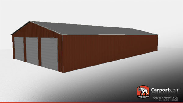 40x80 Metal Storage Building Vertical Style 2