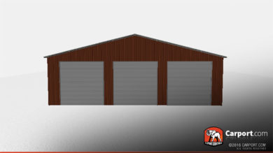 40x80 Metal Storage Building Vertical Style