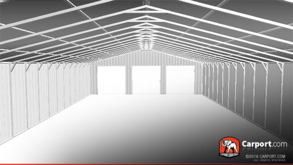 40x80 Metal Storage Building Interior