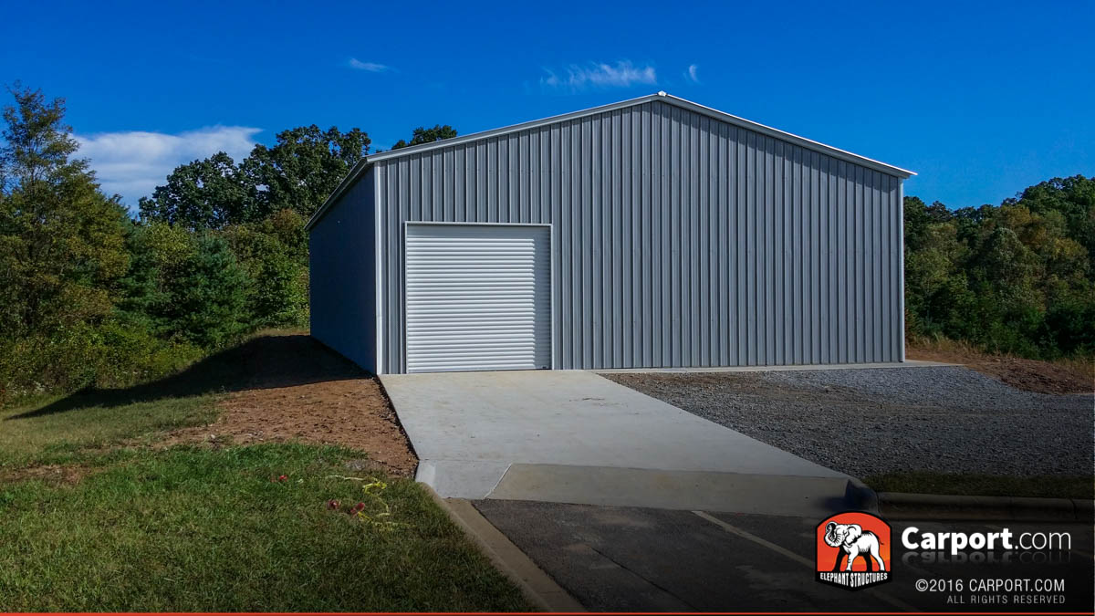 40 X 80 X 14 Commercial Metal Garage Building 2 on Morton Buildings Company