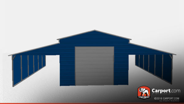 42 x 26 x 12 metal storage building with lean-tos