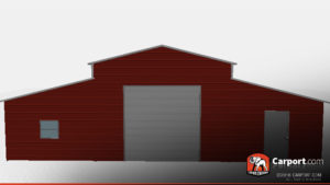 42x41x12 Metal Horse Barn red