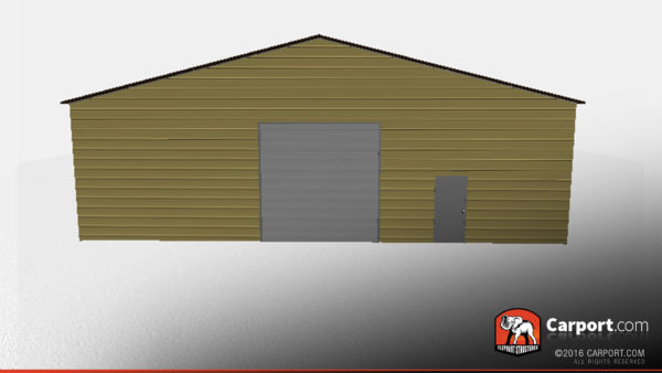50x100 Commercial Metal Building 1