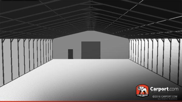 50x100 Commercial Metal Building Interior