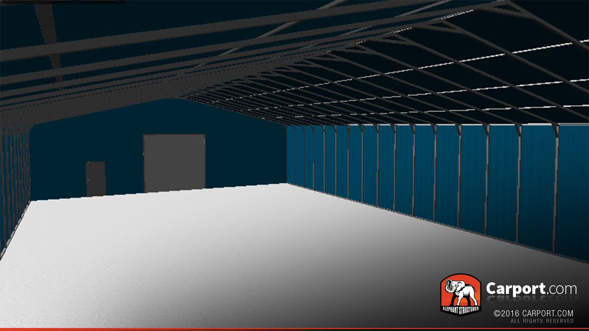 Commercial metal garage 50 39 x 100 39 x 14 39 shop metal for 50x100 garage