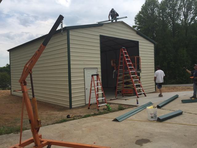 Commercial Steel Garages Inter : Commercial garage  shop metal garages online
