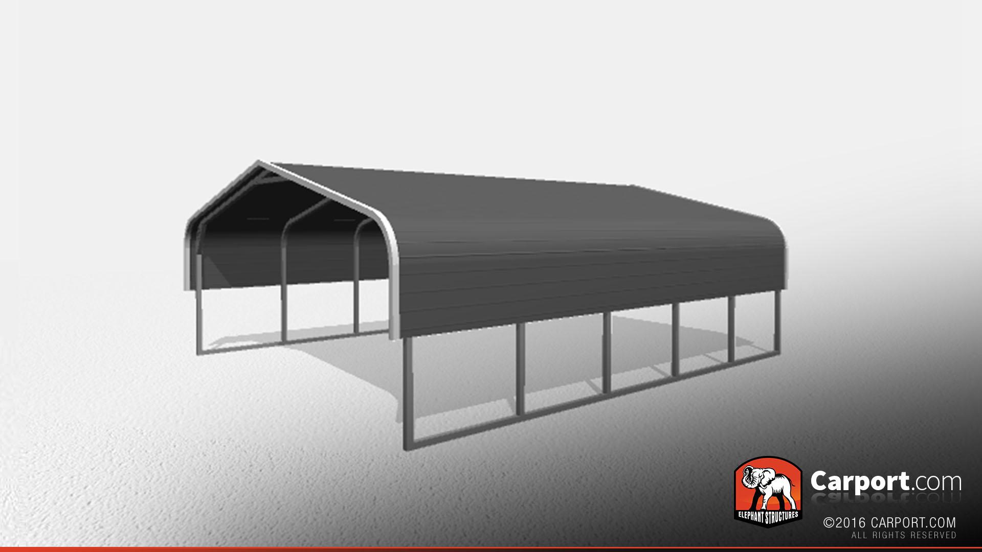 double car metal carport 1 18x21x6