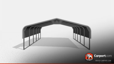 18x21 Two Car Metal Carport