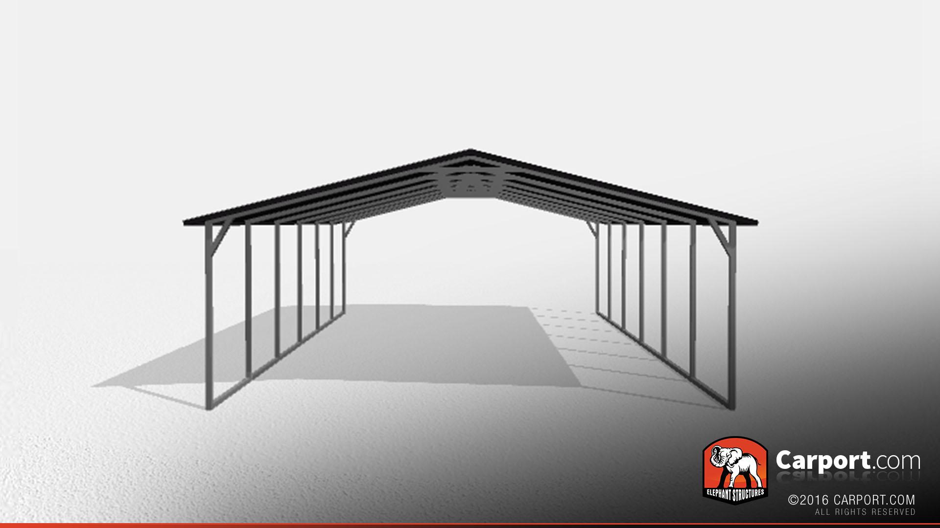 double wide steel carport 20 39 x 26 39 x 7 39 shop steel carports online. Black Bedroom Furniture Sets. Home Design Ideas