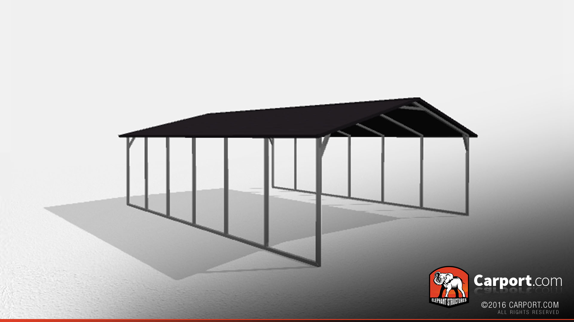 Double wide steel carport 20 39 x 26 39 x 7 39 shop steel for Carport width