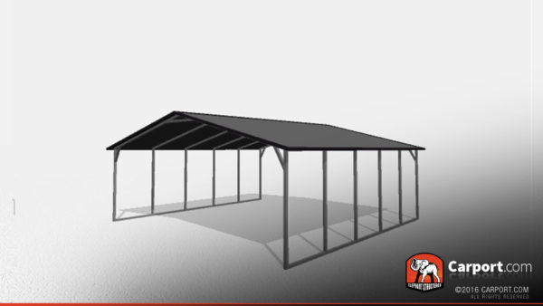 24x21 Two Car Steel Carport 1
