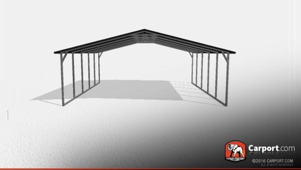 Two Car Steel Carport 2 24x21x7