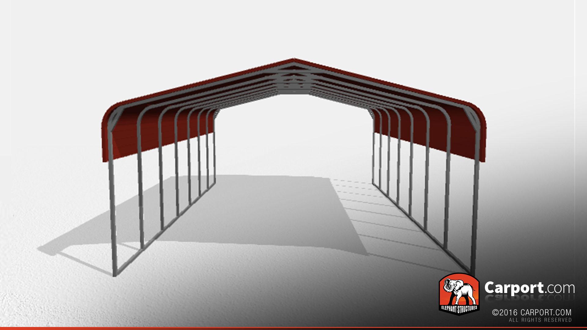 Double Wide Steel Carport 22\' x 31\' x 10\'   Shop Metal Carports Online!