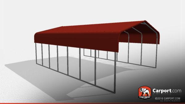 Double Wide Steel Carport 3 22x31x10