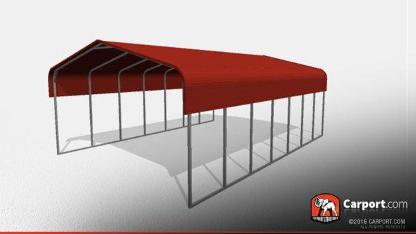 Double Wide Steel Carport 2 22x31x10