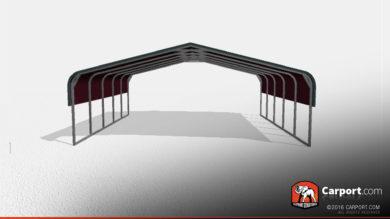 24x21 Double Wide Metal Carport
