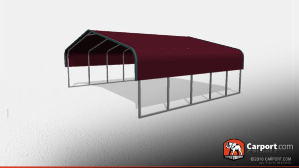 clearance double wide metal carport 2 24x21x5