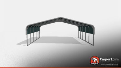 Clearance Two Car Metal Carport 24x21x7