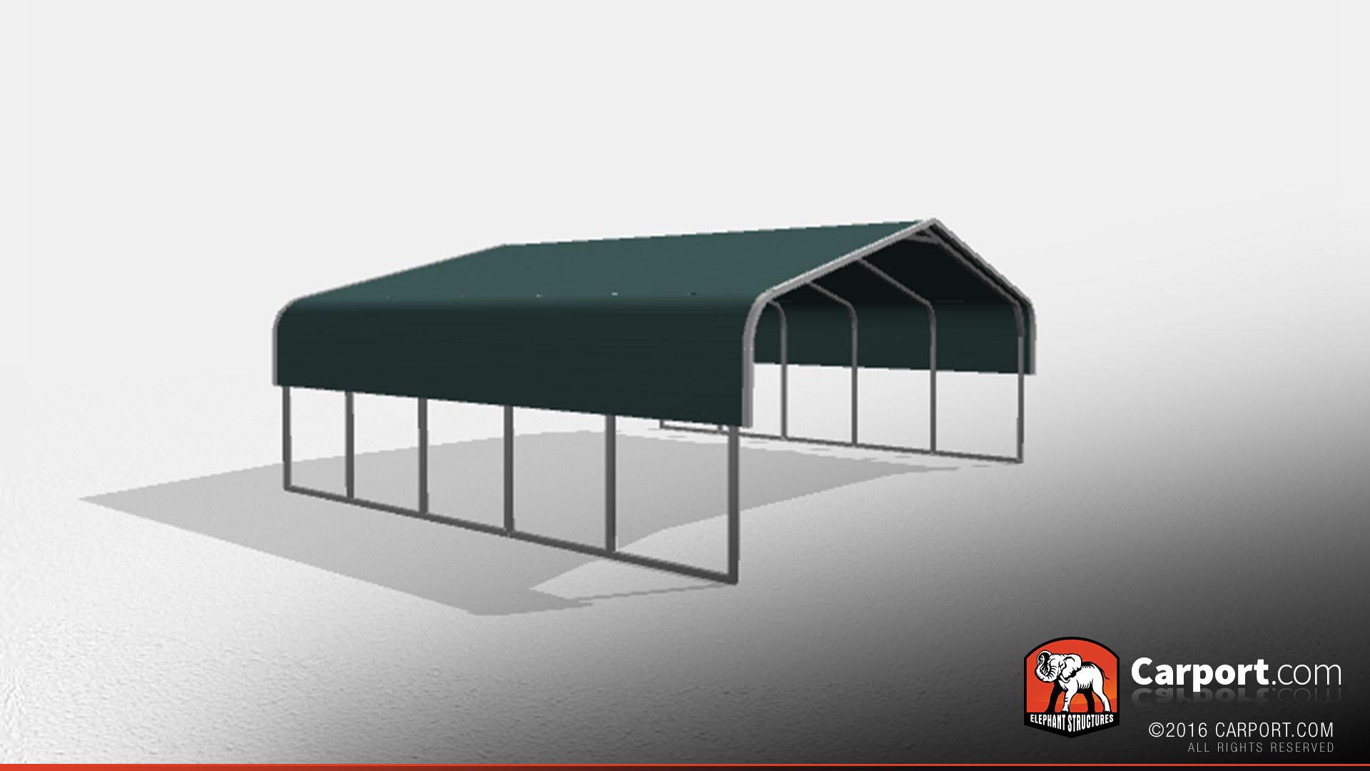 Two car metal carport 24 39 x 21 39 x 7 39 shop carports online for Three car carport