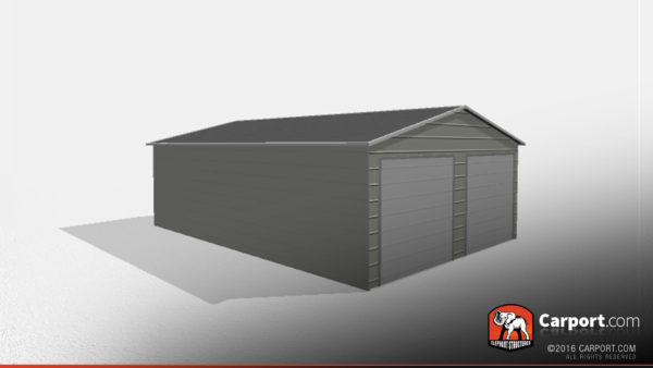 Two Car Steel Garage 1 22x31x9