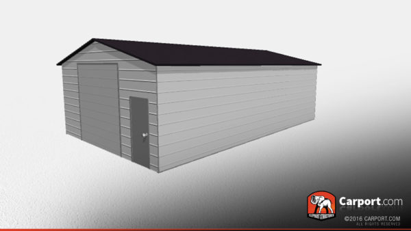 Double Wide Steel Garage 3