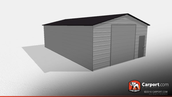 Double Wide Steel Garage 2