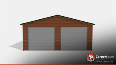 24x26 Double Wide Metal Garage