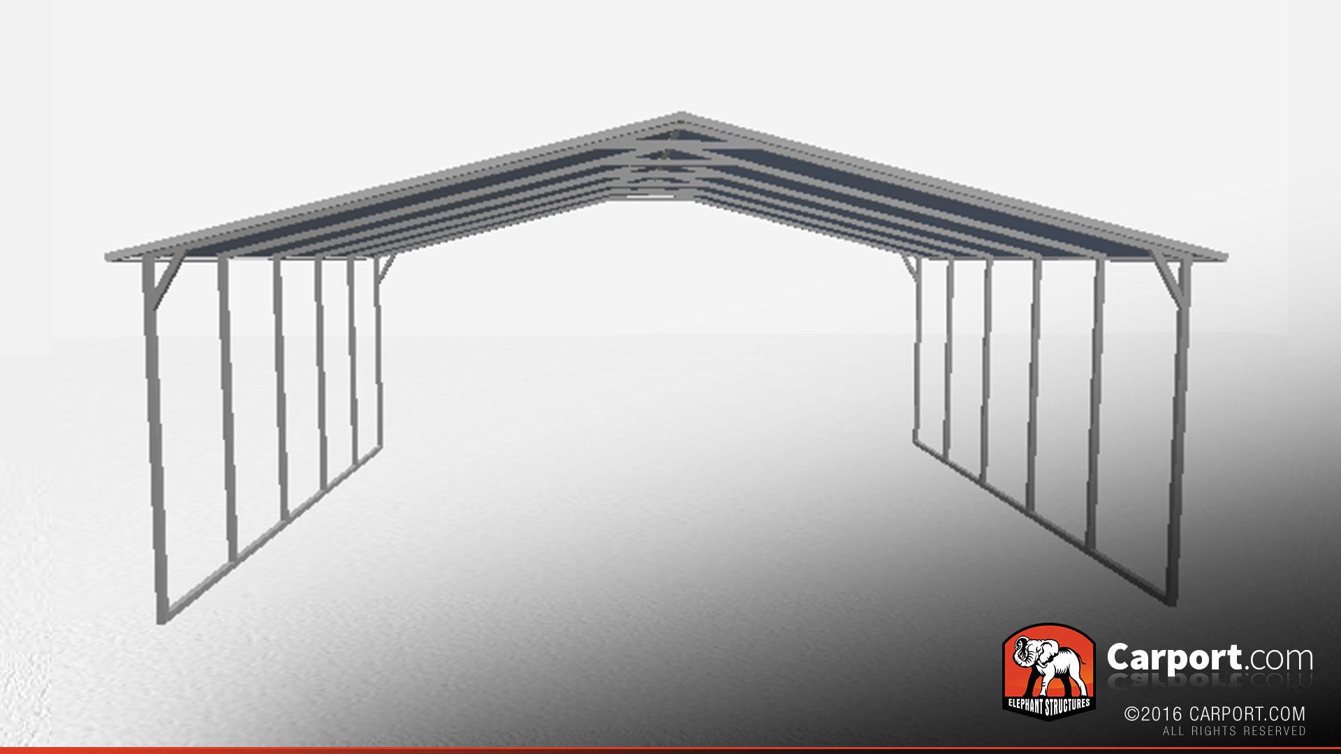a frame steel carport triple wide shop metal buildings online. Black Bedroom Furniture Sets. Home Design Ideas