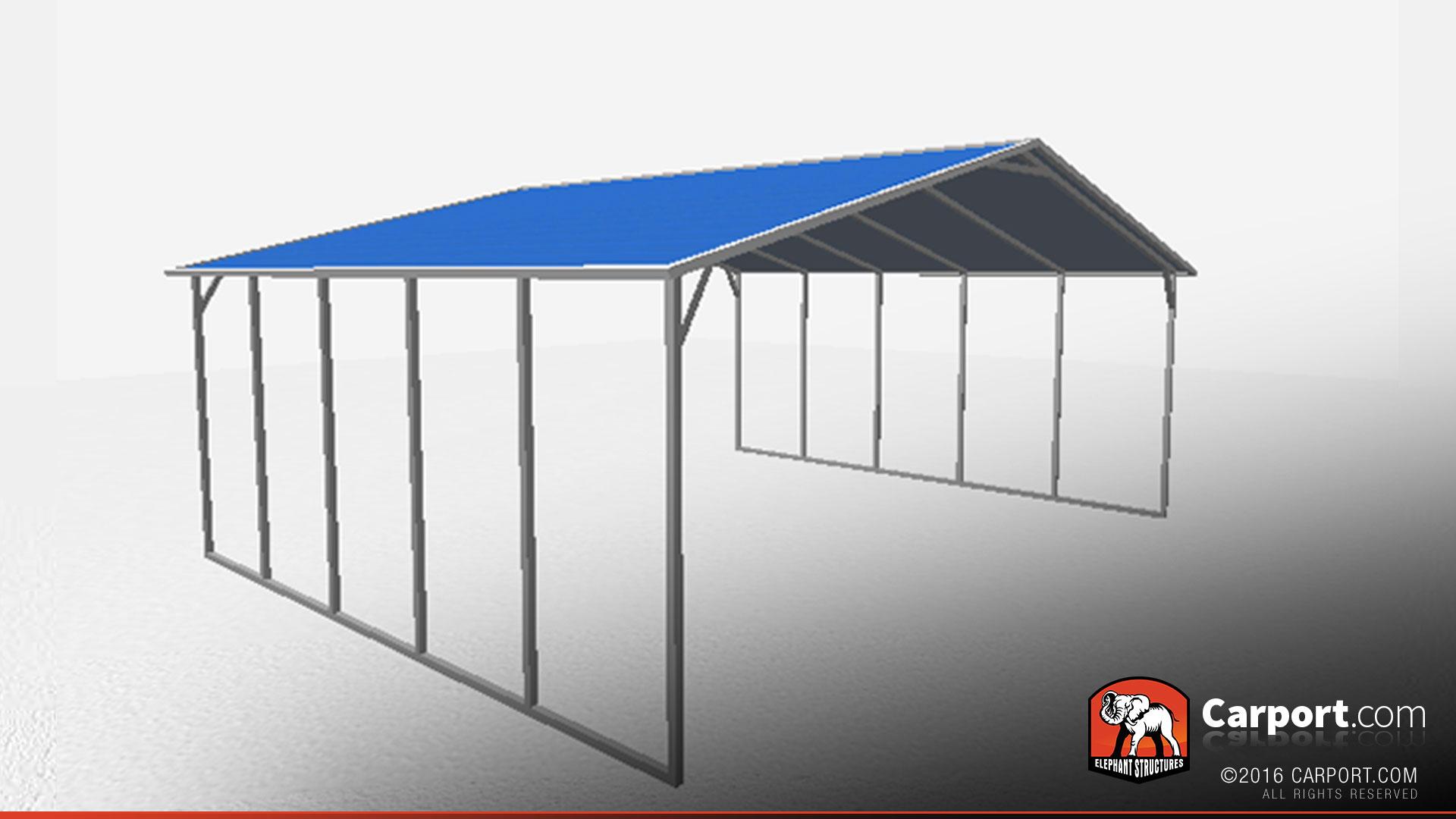 A-Frame Steel Carport Triple Wide   Shop Metal Buildings Online!