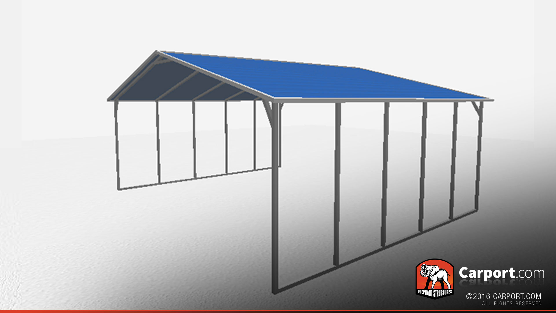 A-Frame Steel Carport Triple Wide | Shop Metal Buildings Online!