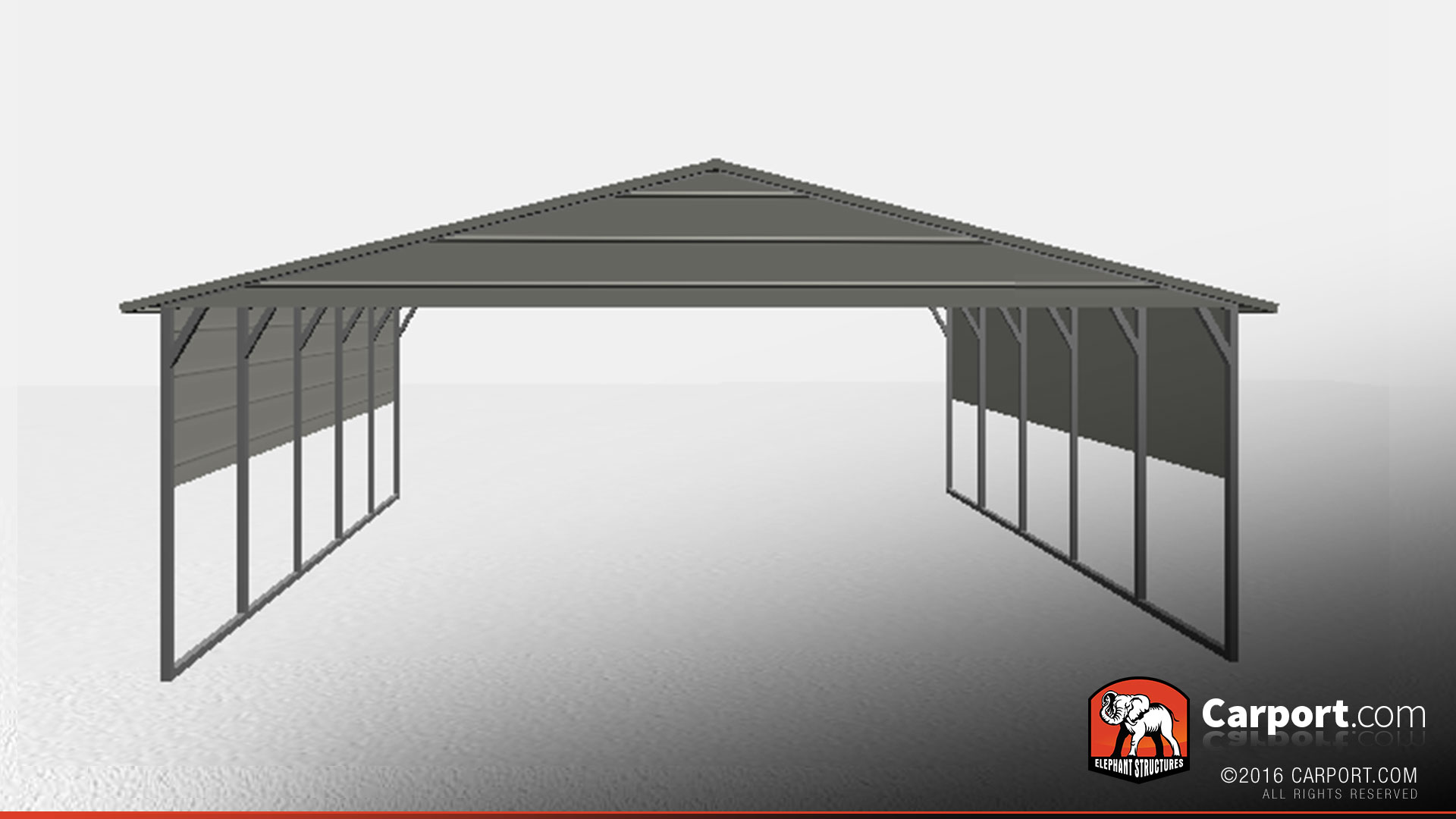 Shelter Build A Car : Boxed eave double wide carport car shelter