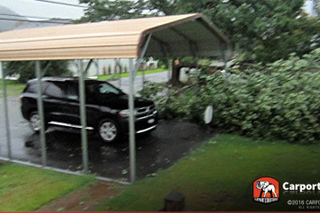 Certified One Car Carport