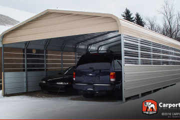 20x26 Custom Double Wide Carport
