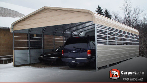 Custom Double Wide Carport 20 Wide X 21 Long X 8 High
