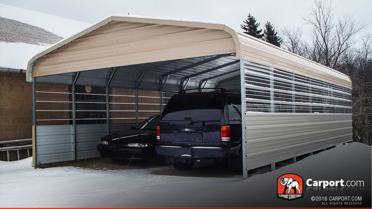Carport build your own carport or have us build them for you for Single car carport dimensions