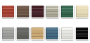The color choices for your steel building or carport purchase!