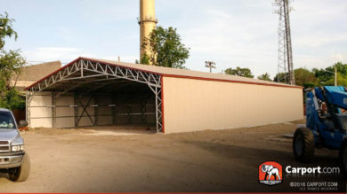 40x51 Custom Commercial Carport